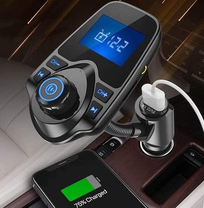 Nulaxy Wireless Bluetooth FM Transmitter