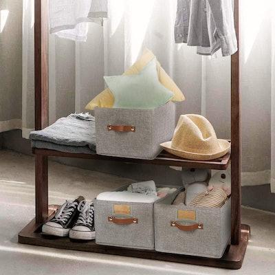OLLVIA Large Fabric Storage Bins (3-Pack)