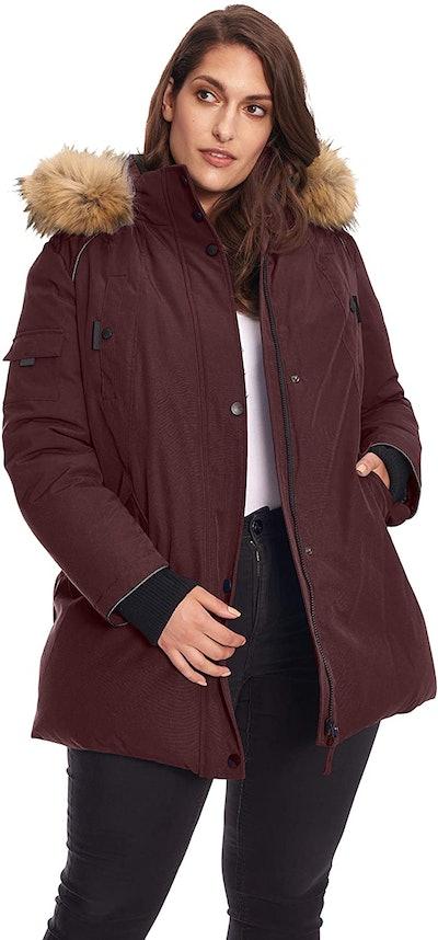 Alpine North Women's Plus Mid-Length Parka Jacket