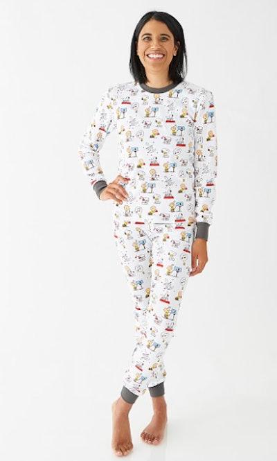 Adult Peanuts® Hearts Pajama Set