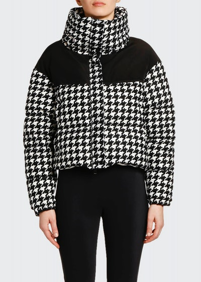 Nil Houndstooth Puffer Jacket