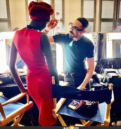 Romero Jennings backstage at New York Fashion Week