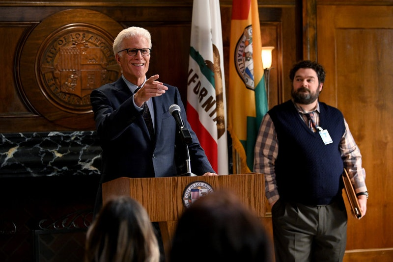 Ted Danson and Bobby Moynihan on Mr. Mayor via the NBC press site