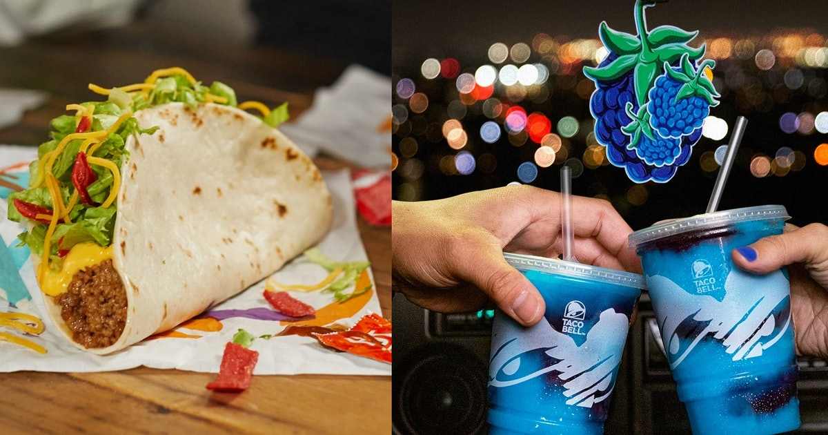 Image Taco Bell's New January 2021 Menu Items Include A Nacho Taco & A Berry-Flavored Freeze