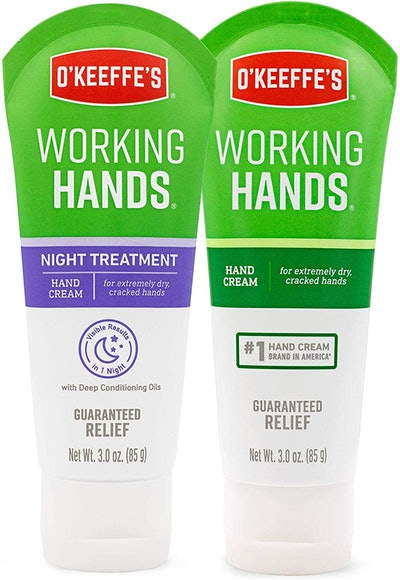 O'Keeffe's Working Hands Hand Cream and Night Treatment Hand Cream (3-Oz Tube)
