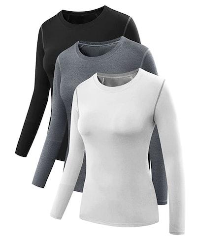 Neleus Dry Fit Compression T-Shirt (3-Pack)