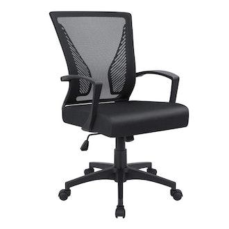 Furmax Mid-Back Swivel Lumbar Support Desk Chair