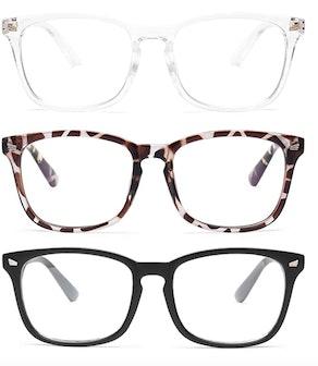Gaoye Blue Light-Blocking Glasses (3-Pack)