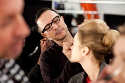 Makeup artist Matin backstage