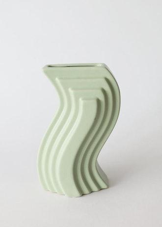 Mint Modern Porcelain Nordic Geometric Vase