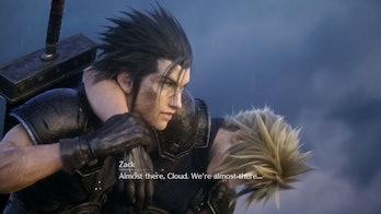 zack cloud final fantasy vii remake