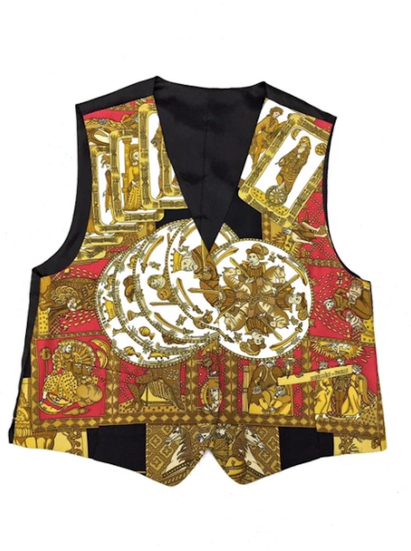 Silk Gold Vest Hermes-Paris Vest double pocket