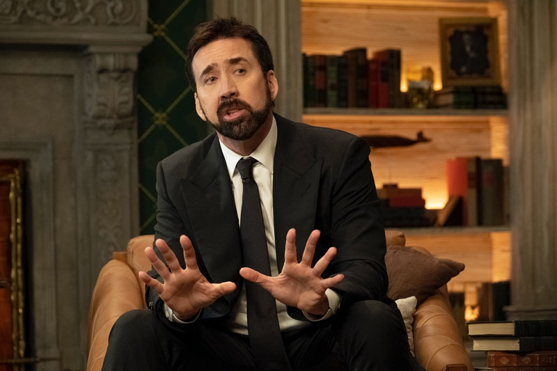 Nicolas Cage in 'History of Swear Words,' via the Netflix press site.