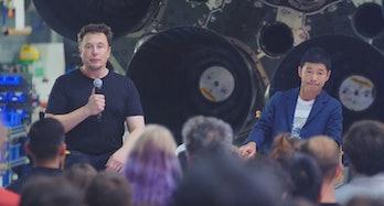 Elon Musk and Yusaku Maezawa.
