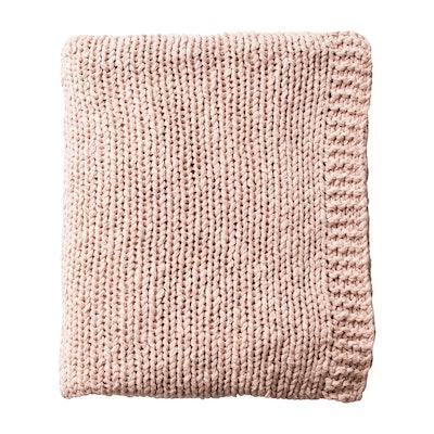 Slub Knit Throw Blanket - Blush