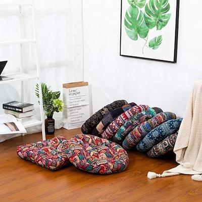 HIGOGOGO Round Floor Pillow