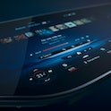 The Mercedes-Benz Hyperscreen, a 56-inch infotainment system that will debut in late 2021.