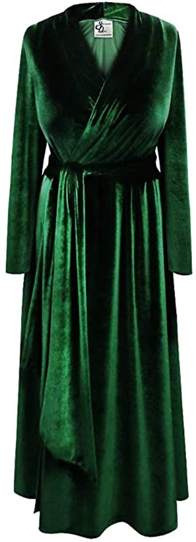 Sanctuarie Designs Plus Size Velvet Robe