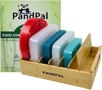 PandPal Adjustable Bamboo Lid Organizer
