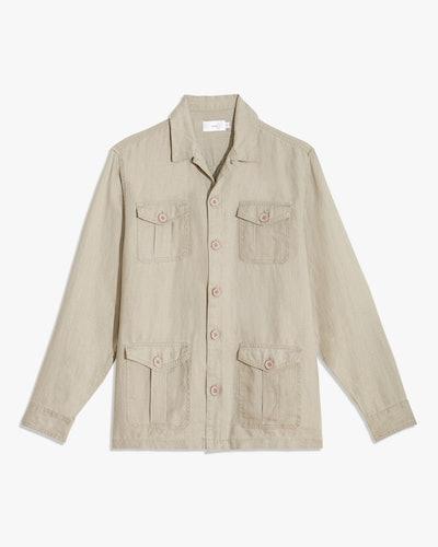 Linen Safari Jacket