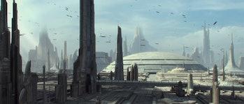 Star Wars Corsucant concept art rise of skywalker