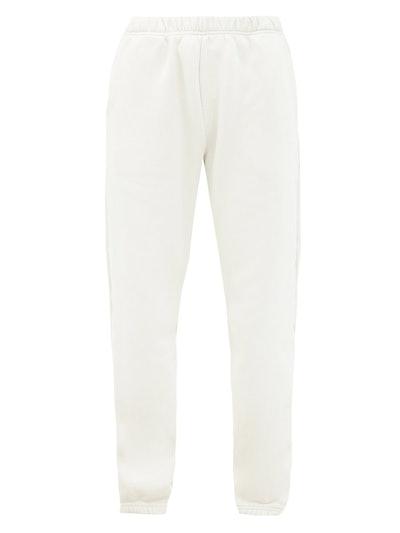 Brushed-back cotton track pants