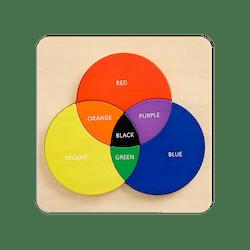 Wooden Color Wheel Puzzle