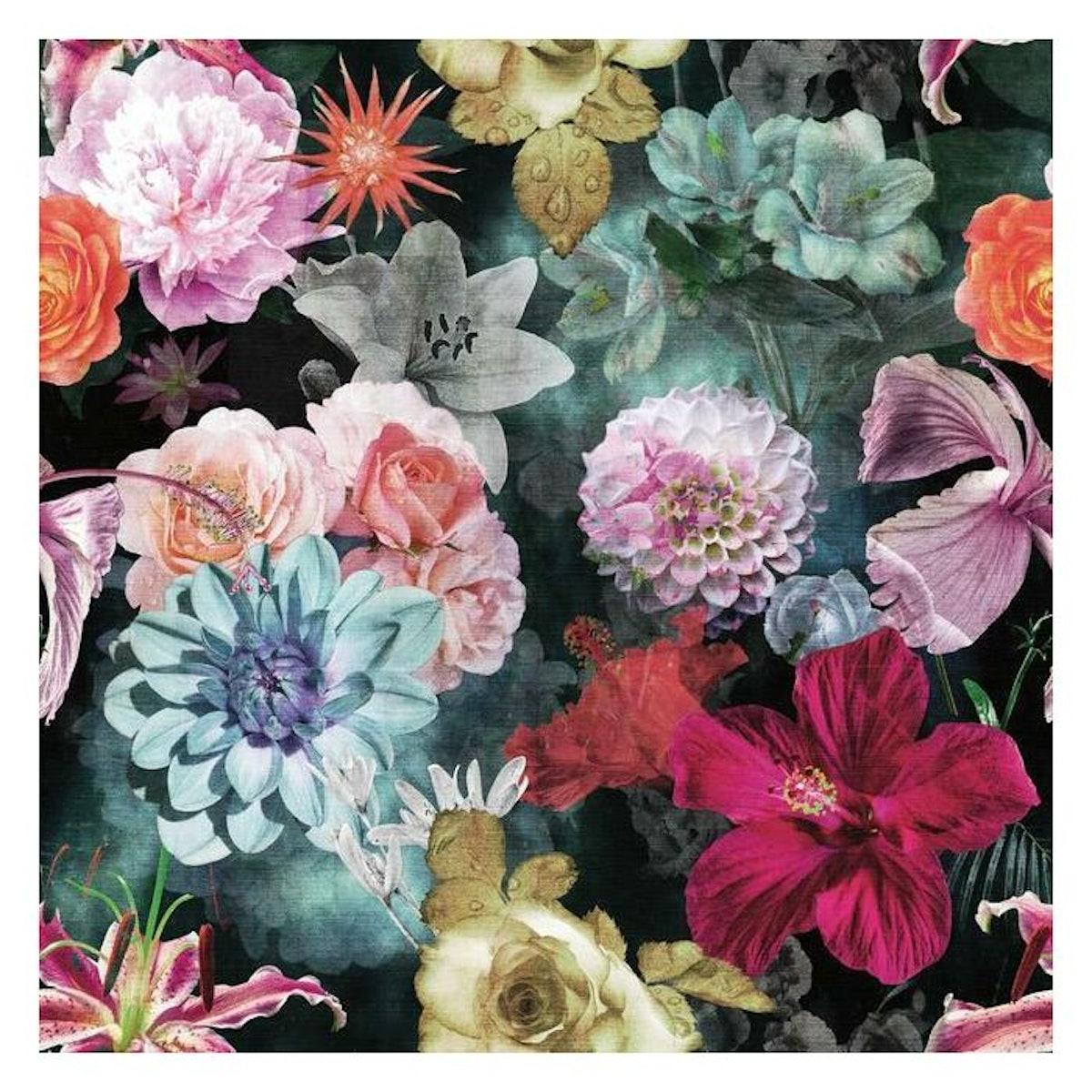 Vintage Floral Bloom Peel and Stick Wallpaper