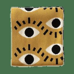 Cotton & Polyester Upcycled Yarn Nazar Eye Blanket