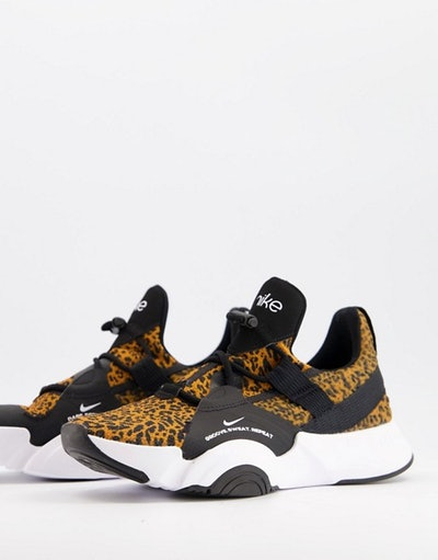 Nike Training SuperRep Groove Trainers In Leopard