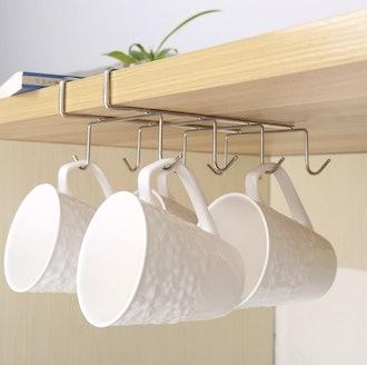 Fashionclubs 8-Hook Under Shelf Mug Holder