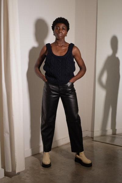 Vegan Leather Trousers