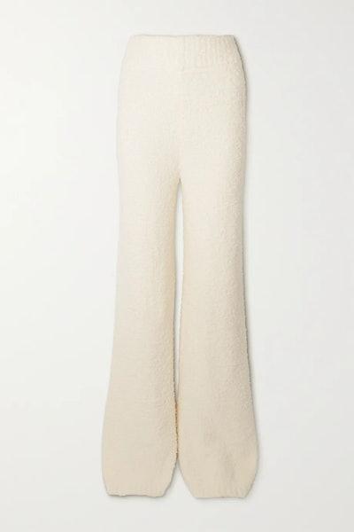 Cozy Knit bouclé pants - Bone