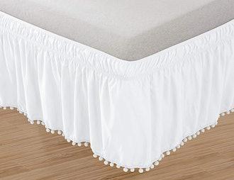 Elegant Comfort Pom-Pom Bedskirt