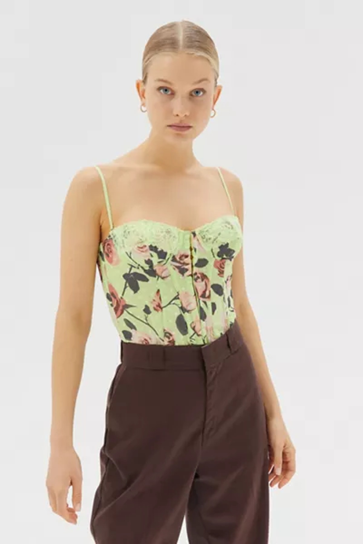 Urban Outfitters Out From Under Lucy Dot Mesh Corset