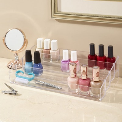 STORi Clear Plastic Multi-Level Nail Polish Organizer