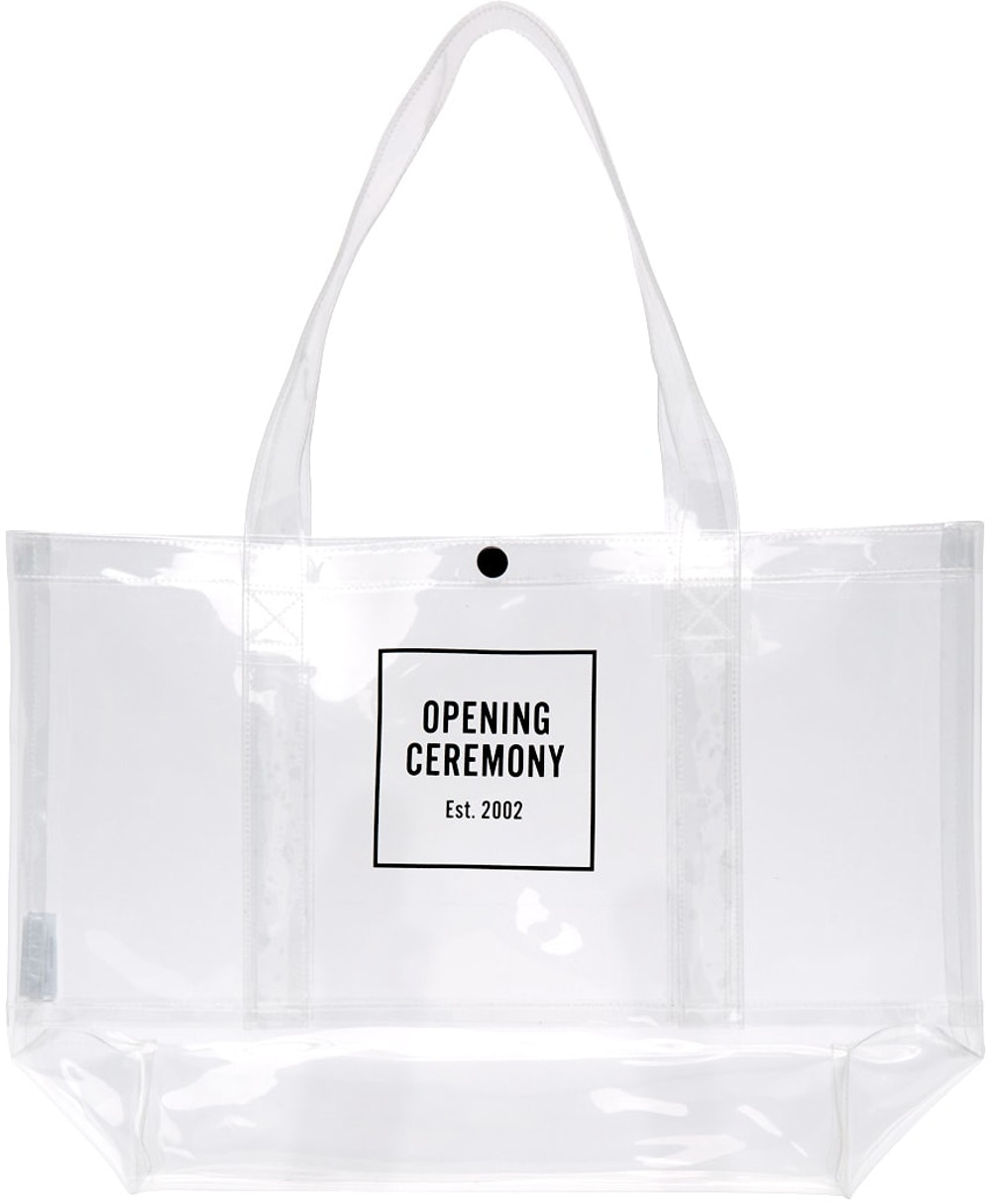 Transparent Medium Box Logo Tote