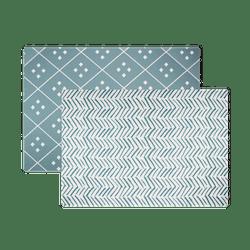 Dash & Diamond Reversible Foam Mat