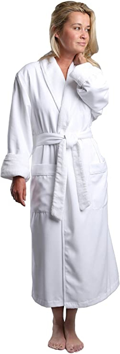 Monarch Cypress Plush-Lined Microfiber Spa Robe