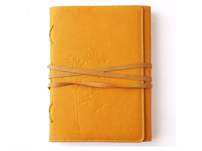 VALERY Faux Yellow Leather Journal