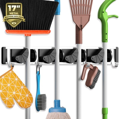 Holikme Wall Mounted Mop an Broom Holder