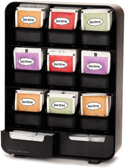 Mind Reader Removable Drawers Tea Bag and Condiment Organizer