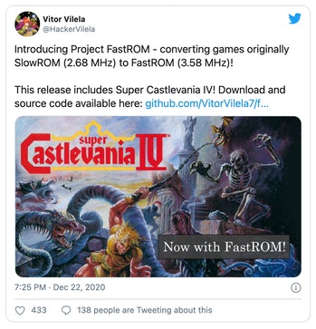 """New """"FastROM"""" patch speeds up older games for the Nintendo Super NES."""