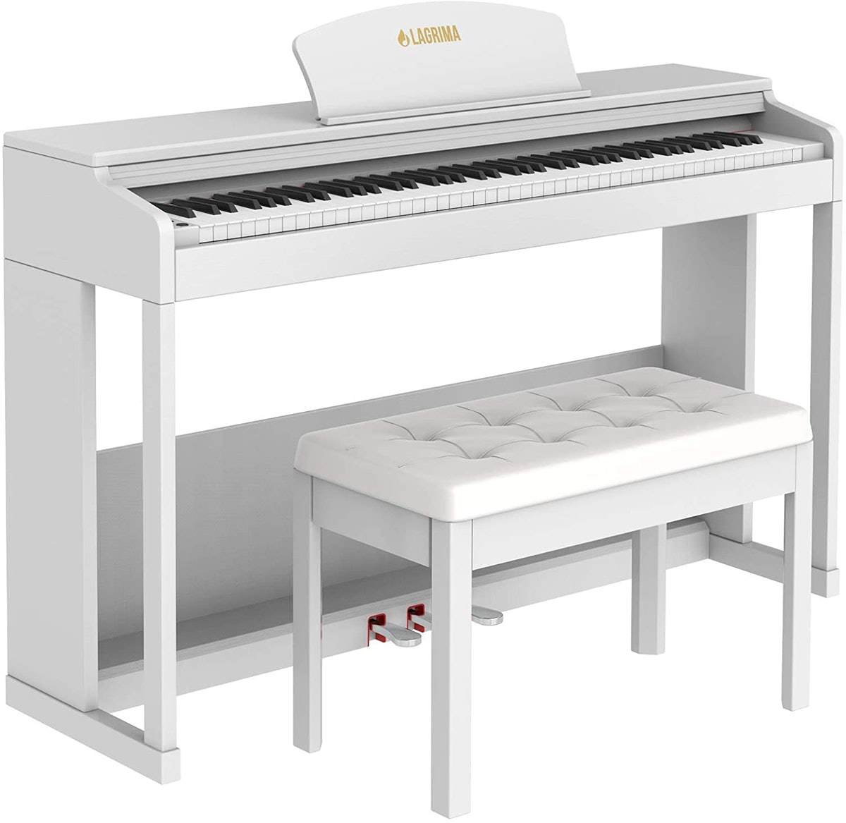 LAGRIMA 88 Key Weighted Hammer Action Digital Piano with Bench