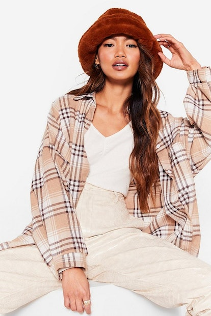 Nasty Gal Let's Head Out Faux Fur Bucket Hat