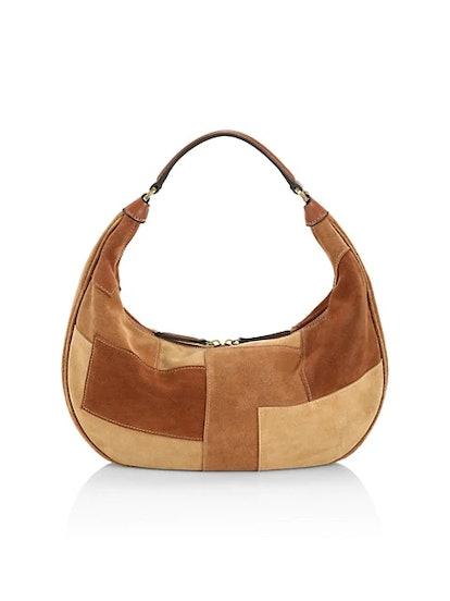 Sasha Patchwork Suede Shoulder Bag