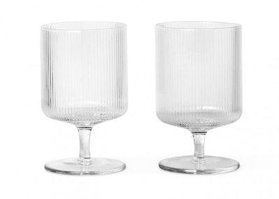 Fern Living Ripple Clear Wine Glass Set of 2