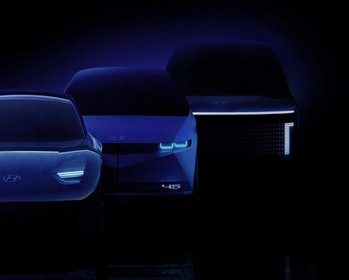 Hyundai's forthcoming lineup of electric vehicles was teased in December 2020.