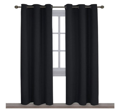 NICETOWN Insulated Solid Grommet Blackout Curtains (Set of 2)