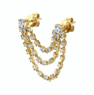 Bianca Diamond Loop Earring